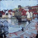 Susan Isaac - Old Town Whitby from Fish Pier (2009)