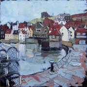 323 Susan Isaac - Old Town Whitby from Fish Pier (2009) Sv108022