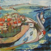 Susan Isaac - Staithes Beck from Cowbar Nab