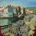 Susan Isaac - Lobster Pots on Staithes Quay (2009)