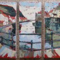 Susan Isaac - Staithes Beck from the Footbridge (2010)