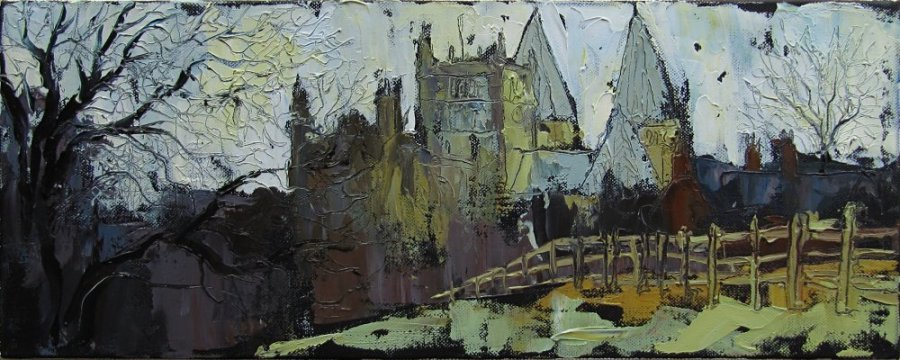 Susan Isaac - Southwell Minster (from Hill House Field) on an Autumn Evening