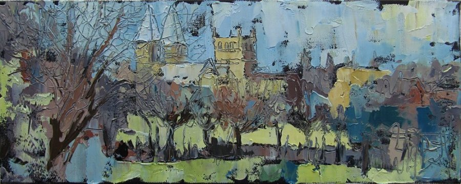 Susan Isaac - Southwell Minster from Potwell Dyke in Spring