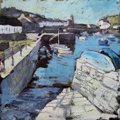 Susan Isaac - The Slipway at Porthleven Harbour