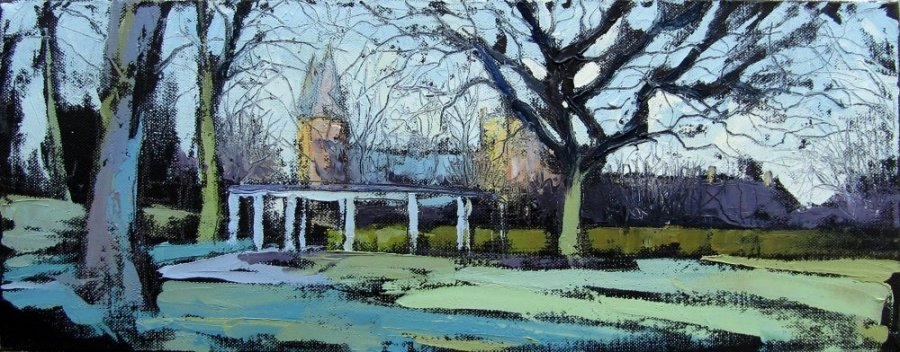 Susan Isaac - Southwell Minster from the Park in early Spring