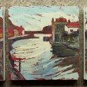 Susan Isaac - Staithes Beck - Triptych (2010)