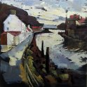 Susan Isaac - Staithes Harbour from Cowbar Lane (2010)