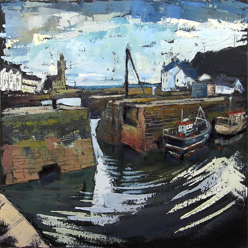 Susan Isaac - Inner Harbour Walls Porthleven