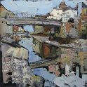 Susan Isaac - Staithes Beck and Footbridge (2011)