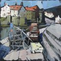 Susan Isaac - Lobster Pots on Staithes Quay (2011)