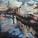 Susan Isaac - Old Whitby from the Swing Bridge (2010)