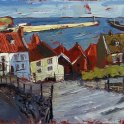 Susan Isaac - Early Morning Light from Whitby Steps (2011)