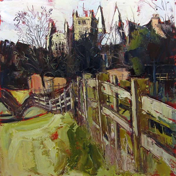 Susan Isaac - Southwell Minster from Hill House Field (2011)