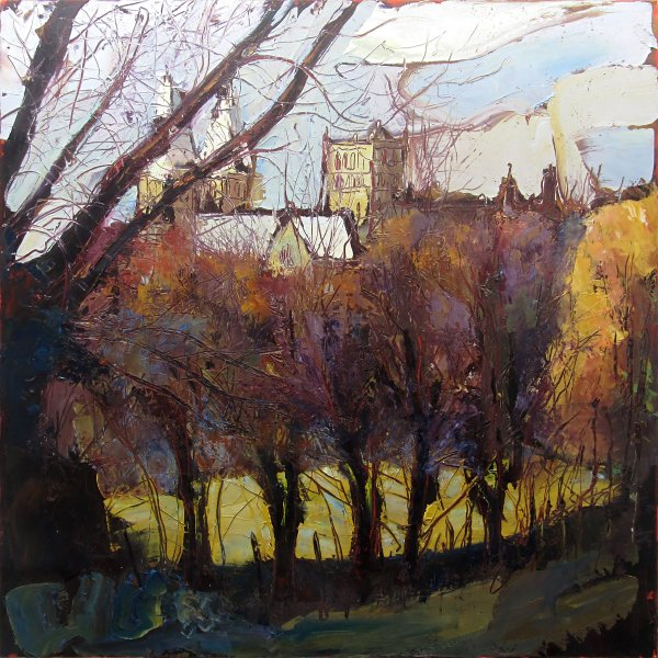 Susan Isaac - Southwell Minster from Potwell Dyke (2011-17)