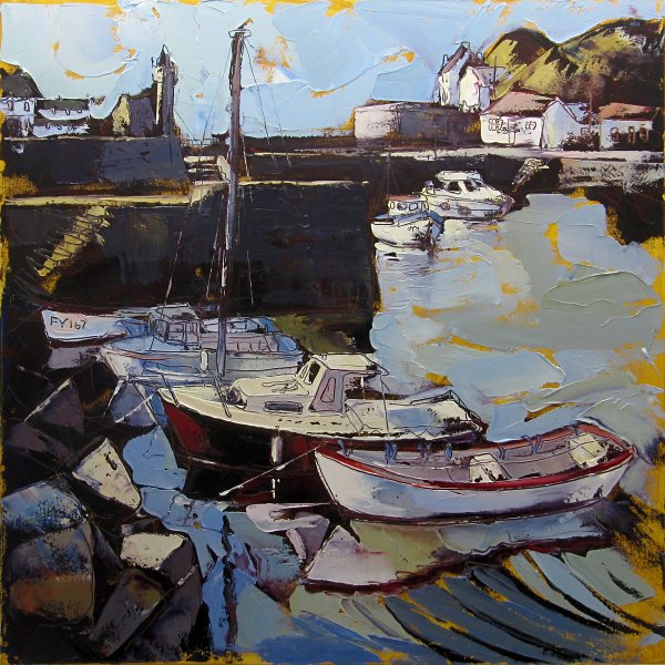 Susan Isaac - The Inner Harbour at Porthleven