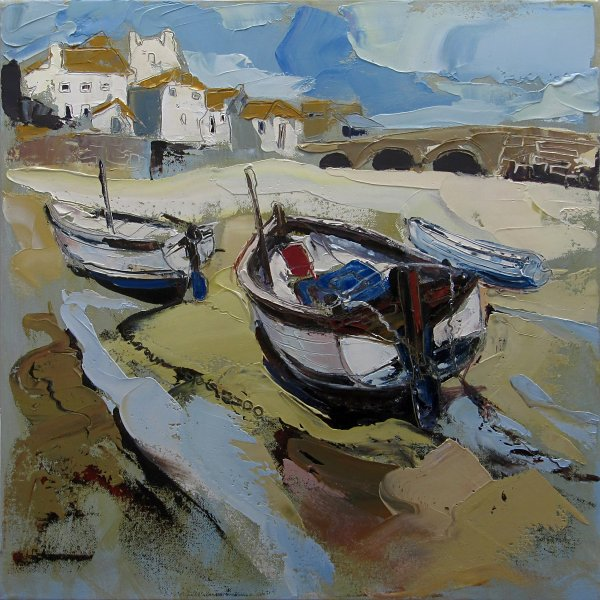 Susan Isaac - The Harbour Beach at St Ives