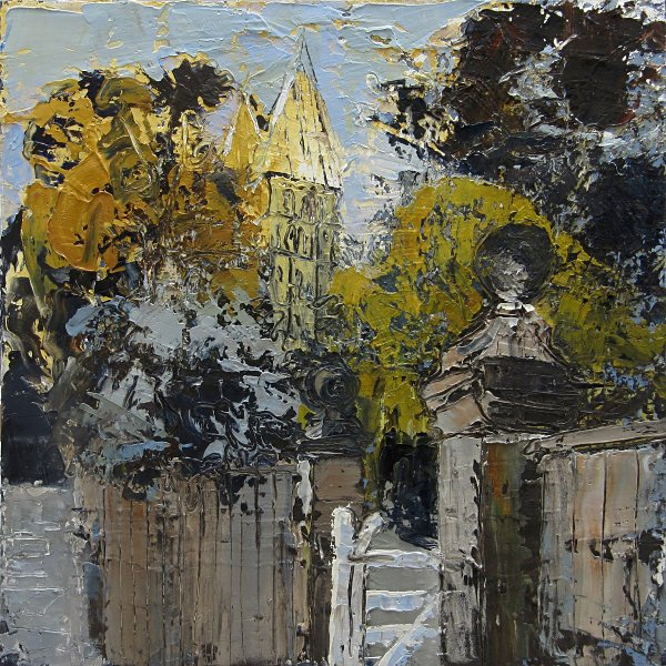 Susan Isaac - Southwell Minster from Bishops Drive (2012)