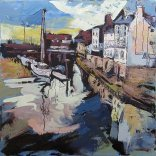 Susan Isaac - Old Whitby from the Swing Bridge (2012)