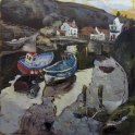 Susan Isaac - The Footbridge over Staithes Beck (2013)