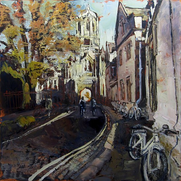 Susan Isaac - Tom Tower of Christ Church from Pembroke Square Oxford (2012)