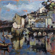 Susan Isaac - The Old Harbour & Chapel Hill Polperro