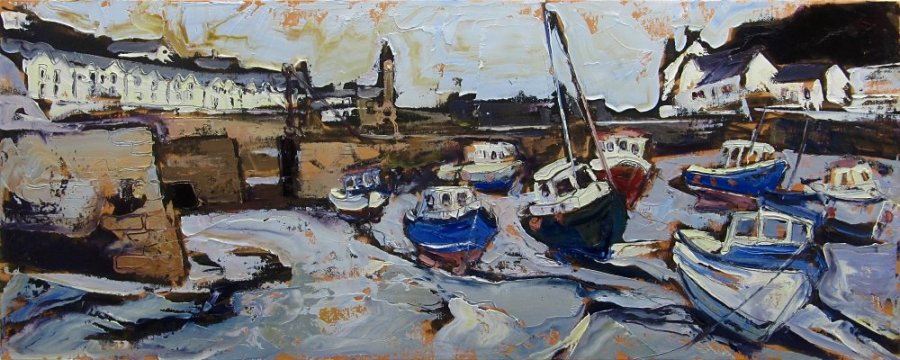 Susan Isaac - The Harbour at Porthleven