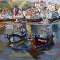 Susan Isaac - Staithes from the Harbour (2013)