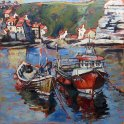 Susan Isaac - Staithes Harbour looking towards the Beck (2013)