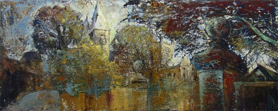Susan Isaac - Southwell Minster and the Bishops Palace Gates