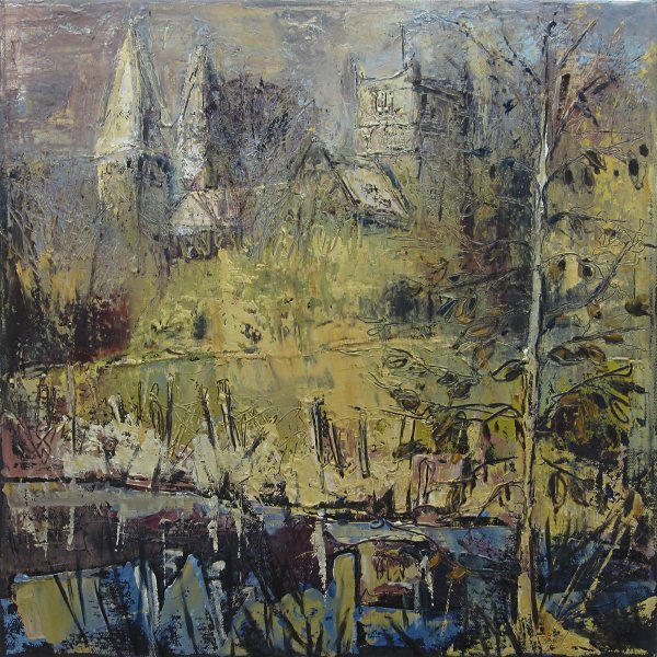 Susan Isaac - Southwell Minster from Squires Pond