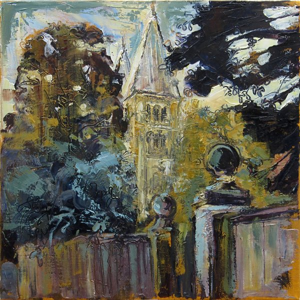Susan Isaac - Southwell Minster from the Bishops Palace Gates