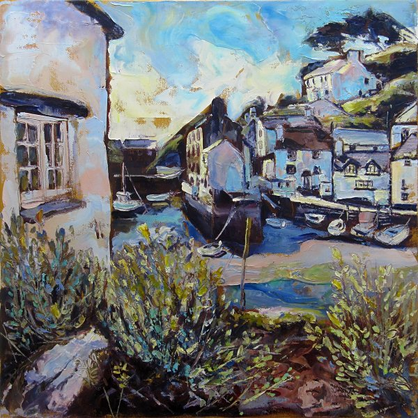 Susan Isaac - The Old Pier from The Warren, Polperro