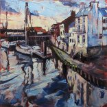 Susan Isaac - Old Whitby from the Swing Bridge (2014)