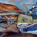 Susan Isaac - Staithes Beck and Footbridge (2014)