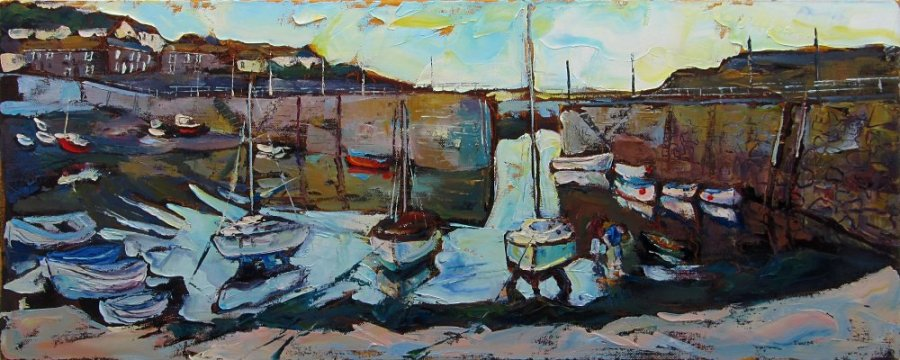 Susan Isaac - Mousehole Harbour in the Evening