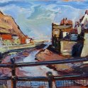 Susan Isaac - Staithes Beck from the Footbridge (2014)