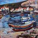 Susan Isaac - Staithes Harbour and the Nab (2014)