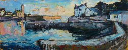 Susan Isaac - Evening Light at Porthleven