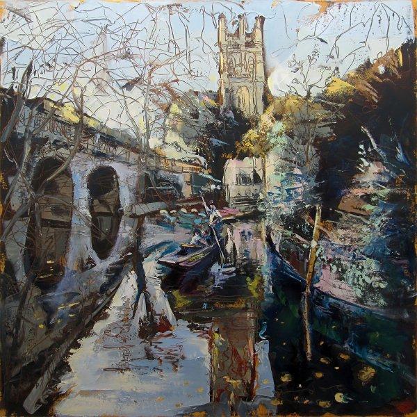 Susan Isaac - Punting below Magdalen Bridge Oxford (2012-14)