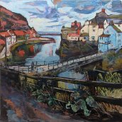 738 Susan Isaac - Staithes Beck and Footbridge 2015) Img_7889