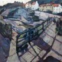Susan Isaac - Cowbar Lane from the Footbridge at Staithes (2015)