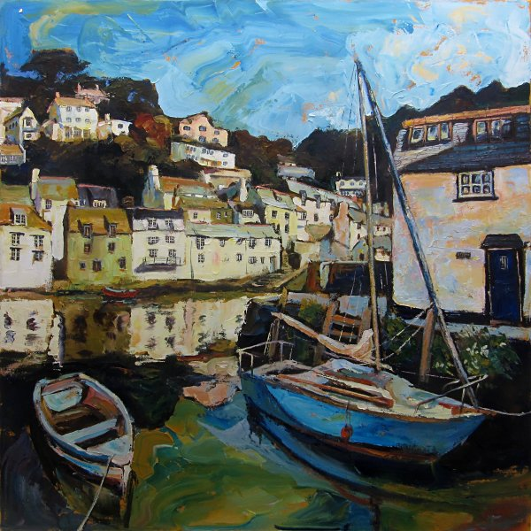 Susan Isaac - The Old Harbour Wall at Polperro