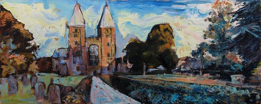Susan Isaac - Southwell Minster from the West Gate