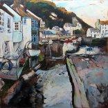Susan Isaac - Polperro Harbour from Roman Bridge