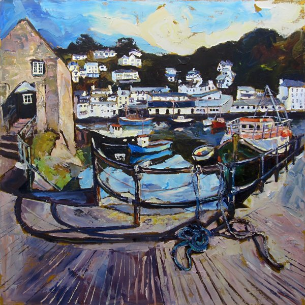 Susan Isaac - Polperro Harbour from The Quay