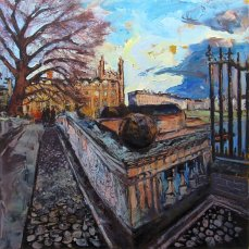Susan Isaac - Kings College from Clare College Bridge Cambridge (2016)