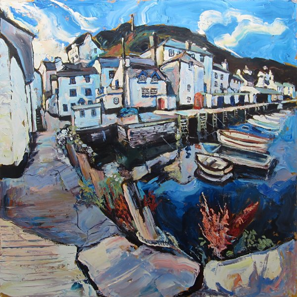 Susan Isaac - The Old Harbour at Polperro