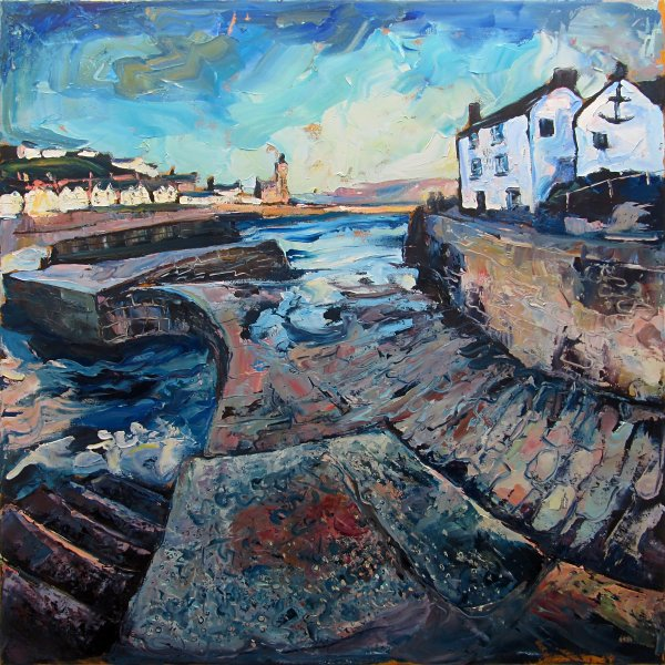 Susan Isaac - Porthleven Harbour and The Ship Inn
