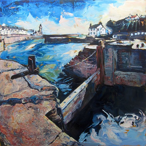 Susan Isaac - Porthleven Harbour and Flood Gate