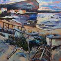Susan Isaac - Staithes and Cow Bar Nab (2016)